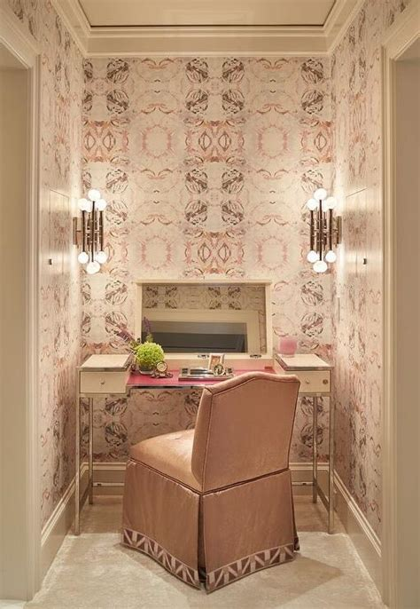 pink vanity makeup table cream makeup vanity with flip top mirror and pink skirted