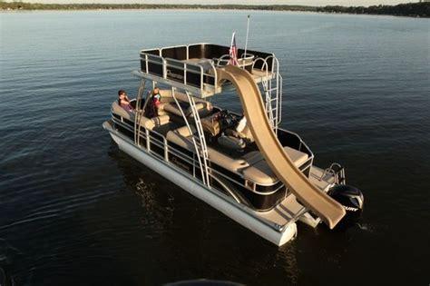 pontoon boats with upper deck and slide for sale 43 best pontoon fun images on pinterest pontoon boating