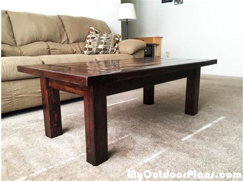 diy farmhouse coffee table myoutdoorplans free