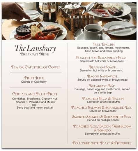 Would You Prefer A Breakfast Or Sleep by Welcome To The Lansbury Quality 4 Bed And Breakfast