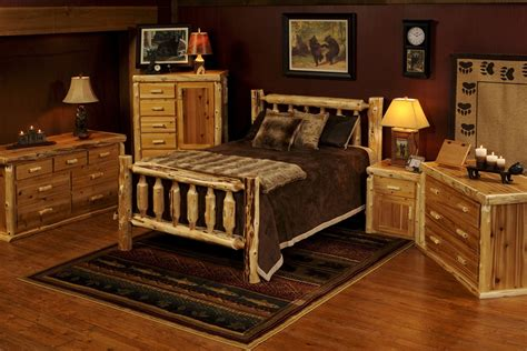 rustic log bedroom sets rustic cedar log bed minnesota log furniture rustic