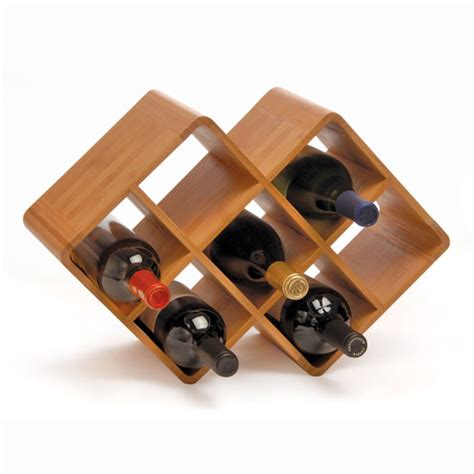 oenophilia bamboo 8 bottle wine rack is eco friendly and