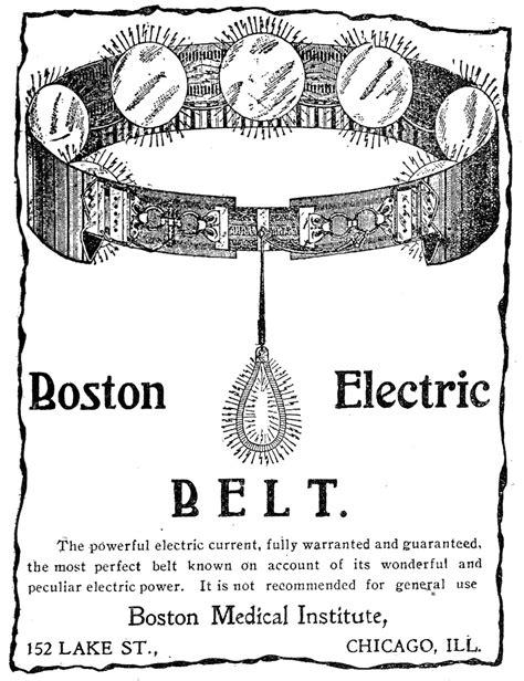 Anúncio de uma correia Elétrico de Boston, 1912