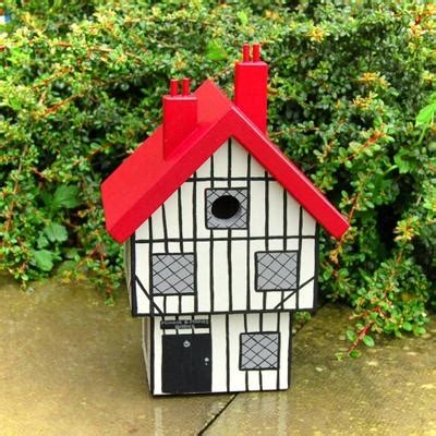 handmade tudor house bird box birdhouses