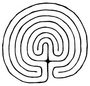 Labyrinth Outline by Reunited Selves The Labyrinth Meditation