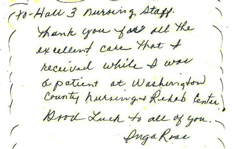 thank you letter to doctor after delivery family letters from washington co nursing home