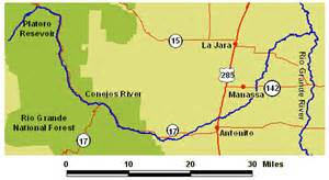 colorado rivers and streams map wildernet conejos river colorado rivers streams