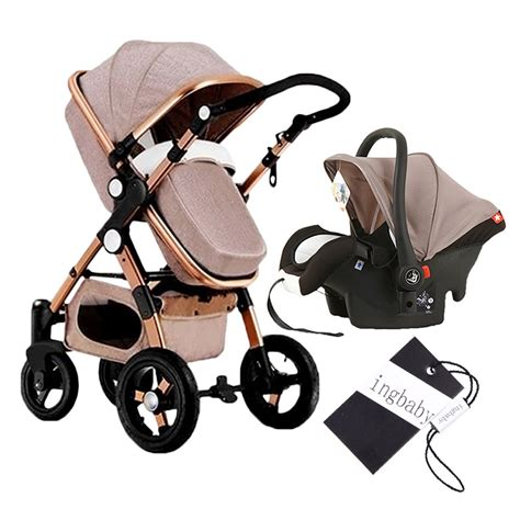 baby bassinet car seat luxury baby stroller 3 in 1 high view pram foldable