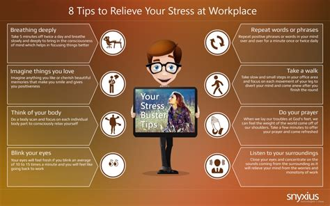 relieve stress at workplace from these 8 tips