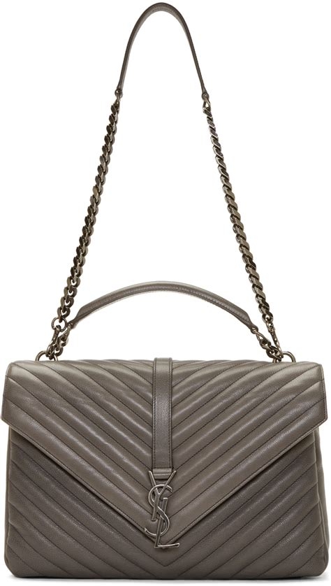 yves saint laurent college monogram quilted leather