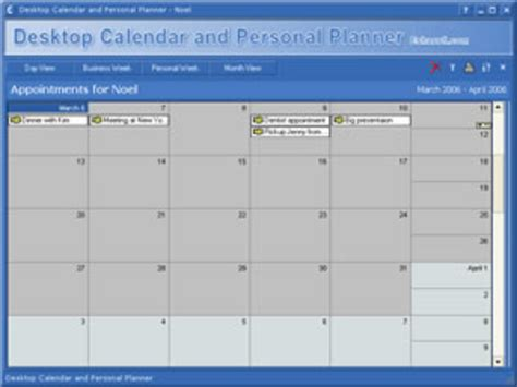 Desktop Calendar Desktop Calendar And Planner Software