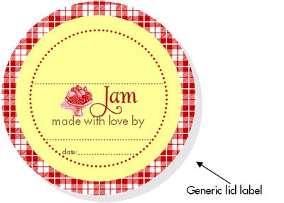 free jam labels a recipe and a quick canning lesson