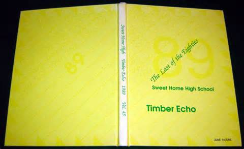1989 timber echo yearbook sweet home high school oregon ebay