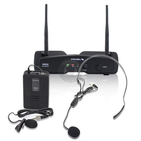 Diskon Mic Wireless Proel Wm202h Uhf Single Headset Wireless ebay