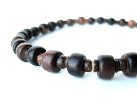 mens bead necklaces wooden stutter necklace for outdoorsy authentic arts