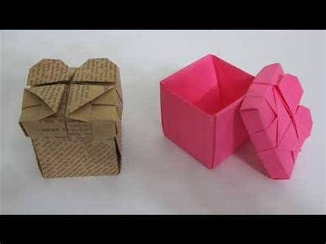 tutorial origami heart box tutorial how to make an origami heart box youtube