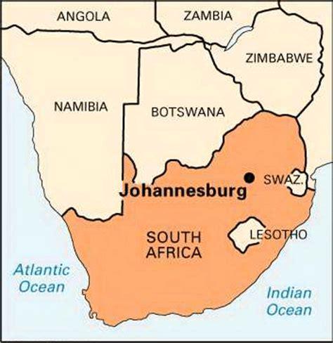 africa map johannesburg johannesburg map south africa