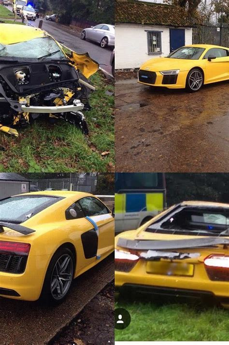 Audi R8 Crash by Brand New Audi R8 V10 Test Drive Goes With A Crash