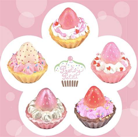 New Squishy Strawberry Tart pastry petiti strawberry tart squishies with chain and headphone 183 kawaii squishy shop