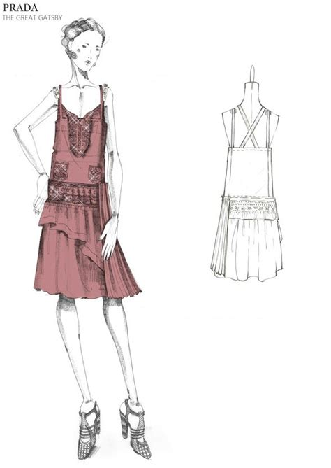 Sketches 4 Daughters by Prada Great Gatsby Sketch I Like The Sketch Quality Of The