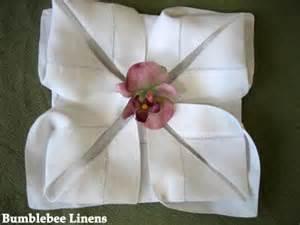 Romantic napkin folding ideas letters from eurolux