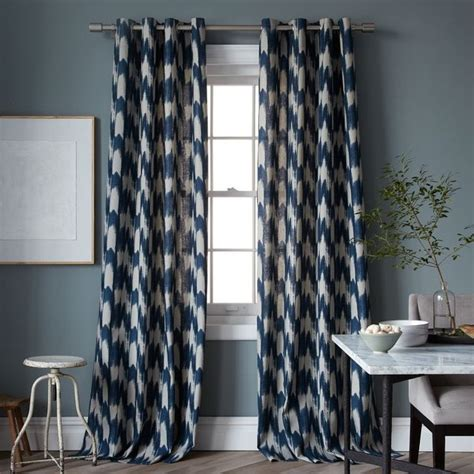 contemporary print curtains painted ikat print window panel contemporary curtains