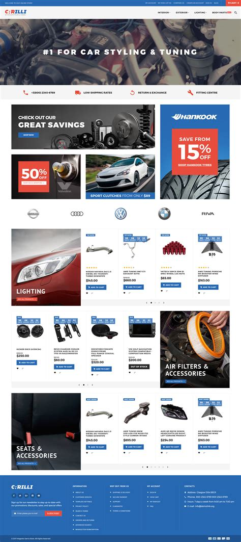 live car themes car tuning magento theme