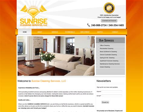 website to design a house cleaning company business website designing prices website