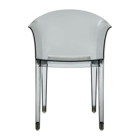 stuhl mit armlehne grau tulipano stuhl mit armlehnen aus polycarbonat grau