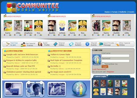 template joomla community free community templates for joomla download free software