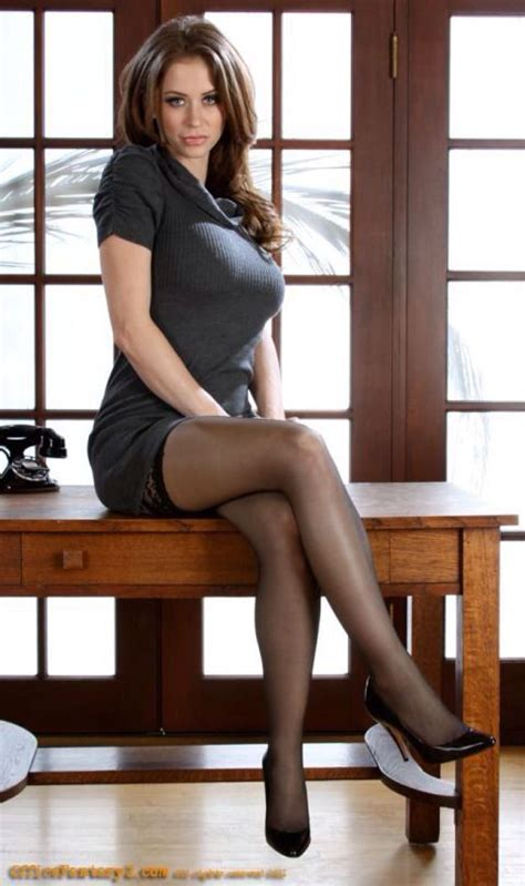 Sex office nylon