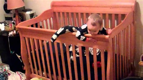 Babies Climbing Out Of Cribs Baby Climbs Out Of Crib The Escape Artist
