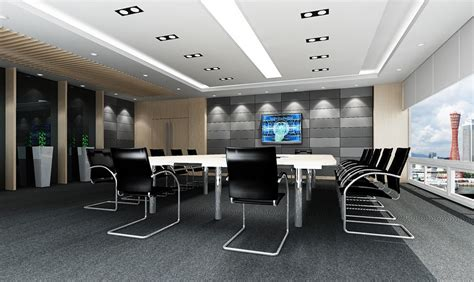 modern conference room black chairs design for modern minimalist conference room 3d house