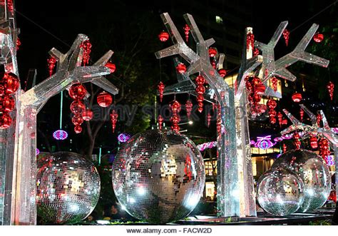 new year decorations supplier singapore orchard road singapore lights stock photos