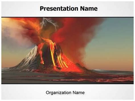 powerpoint themes volcano pin by editable templates on free powerpoint presentation