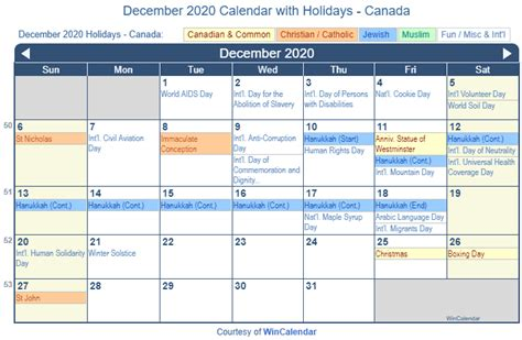 print friendly december  canada calendar  printing