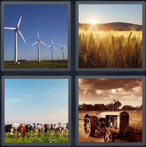 hot wind 7 letters 4 pics 1 word answer for wind corn cow tractor heavy