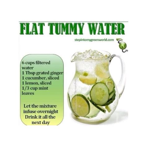 Detox Water Recipe For Flat Stomach by Detox Flat Tummy Water Trusper