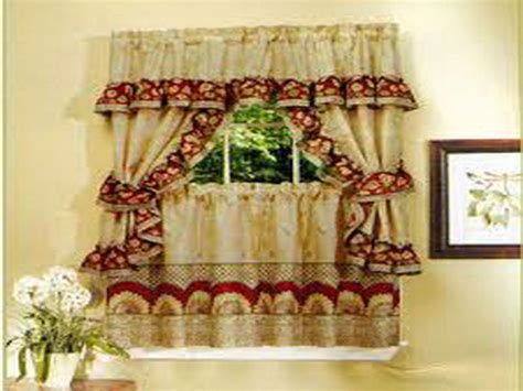 Drapes Bay Window Kitchen Country Curtain Ideas For Kitchen Curtain Ideas