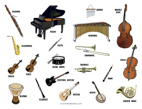 free coloring pages of instrument families