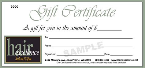free printable hair salon gift certificate template giftcertificate images usseek