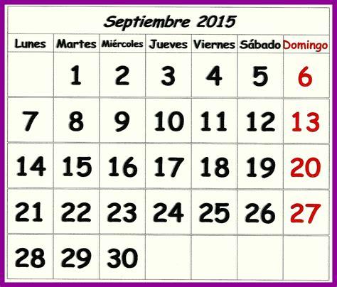 Calendario De Septiembre 2015 Almanaque 2015 Oggisioggino S