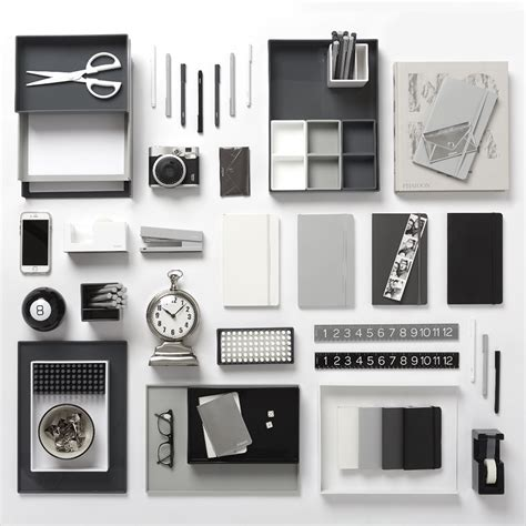 New Poppin Dark Gray Desk Accessories Cool And Modern Black And White Desk Accessories