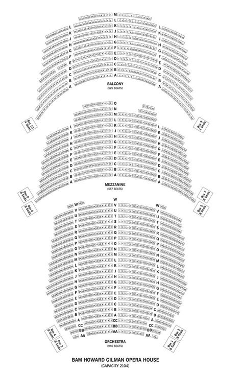 bam howard gilman opera house bam howard gilman opera house seating chart theatre in new york