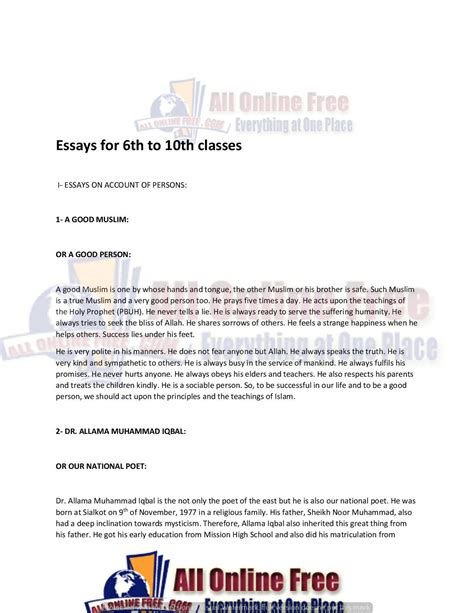 Essays Classes by Essays Easy Simple Classes 6th 7th 8th And 10th