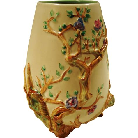 clarice cliff quot garden quot footed vase from sweetcandy on