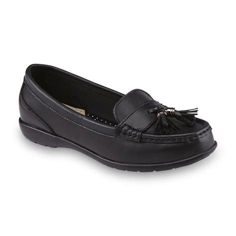 womens loafers wide width thom mcan s caeley black leather loafer wide width