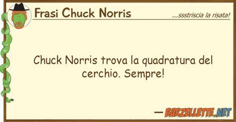 cer vas usato barzelletta chuck norris trova la quadratura cerchio