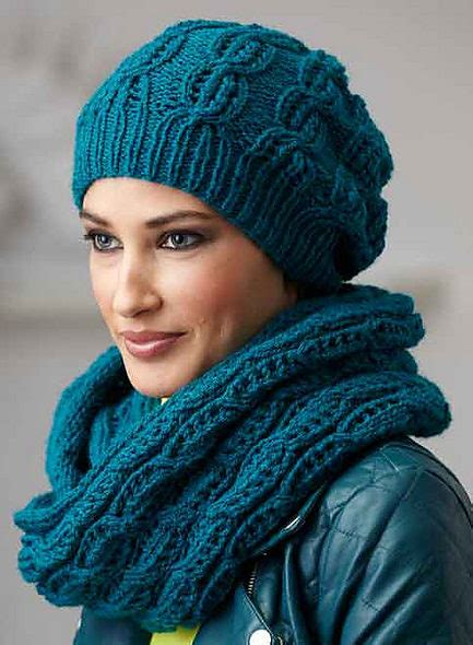 knitting pattern scarf and hat set hat scarf and mitt sets knitting patterns in the loop