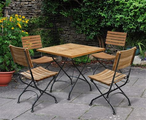 Outdoor Square Bistro Table and 4 Chairs   Patio Garden